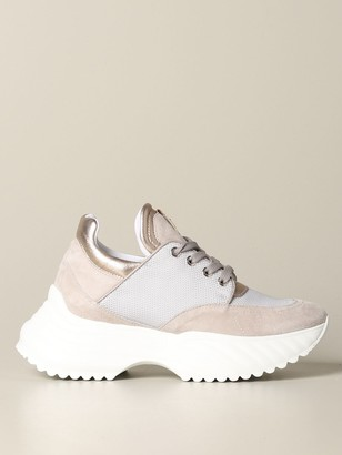 Paciotti 4Us Sneakers In Suede And Fabric