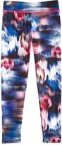 Onzie Girls' Blurred-Flower-Print Leggings