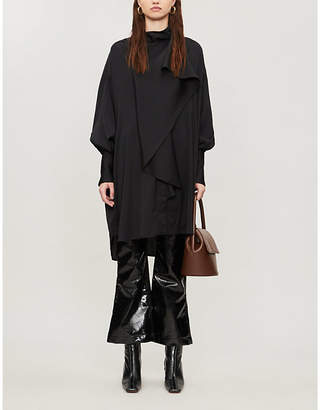 Ellery Metrique high-neck stretch-silk midi dress
