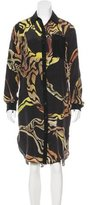 Proenza Schouler Abstract Print Silk Dress