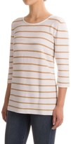 Indigenous Nautical-Stripe Sweater - Organic Cotton, Elbow Sleeve (For Women)