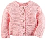 Carter's Baby Girl Textured Knit Cardigan