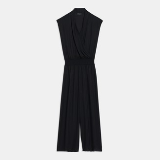 Theory Draped Jumpsuit in Silk