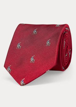 Ralph Lauren Silk Repp Narrow Tie