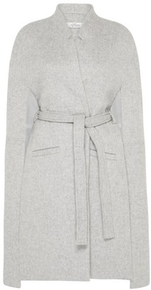 Allora Victoria Longline Luxury Wool Cape - Soft Grey