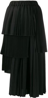 No.21 Pleated Asymmetric Skirt