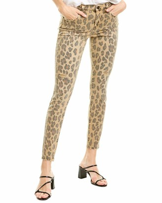 Blank NYC Women's Leopard Printed Mid Rise Skinny Denim Jeans