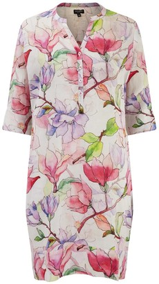 Nologo Chic Sweet Pea Linen Tunic Dress
