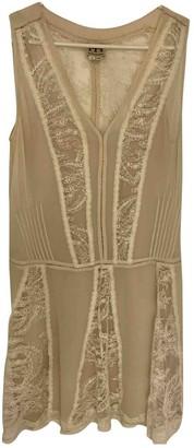 Haute Hippie Beige Silk Dress for Women