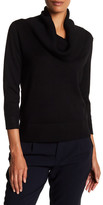 Cable & Gauge Cowl 3/4 Sleeve Sweater