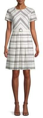 Karl Lagerfeld Paris Chevron A-Line Dress