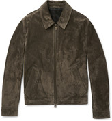 Ami - Slim-fit Suede Jacket