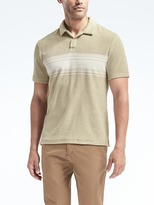 Banana Republic Stripe Terry Polo