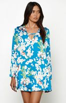 Lucca Couture Priscilla Floral Print Long Sleeve Dress