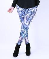 Silver Geometric Leggings
