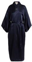 Chufy - Embroidered Silk Kimono-style Jacket - Navy