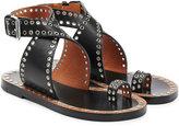 Isabel Marant Leather Eyelet Embellished Sandals