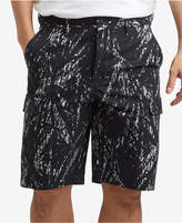 Kenneth Cole New York Men's Stretch Printed Mesh Tech Cargo Shorts