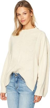 Lucca Couture Women's Greta Boyfriend Poncho Sweater