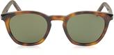Saint Laurent SL 28 Havana Acetate Round-Frame Unisex Sunglasses