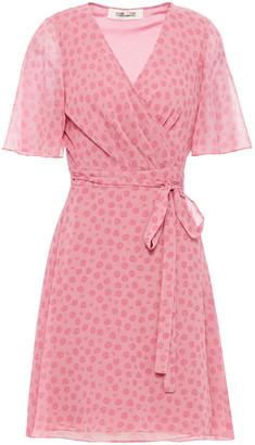 Diane von Furstenberg Kathy Floral-print Georgette Wrap Dress