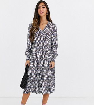Y.A.S v-neck maxi dress in geo