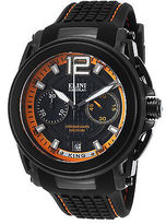 Elini Barokas 20014-BB-01-OA Men's King Chronograph Black Silicone and Dial