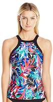 Jantzen Women's Tropic Nights High Neck Tankini