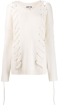 Mcq Swallow Lace-Up Jumper