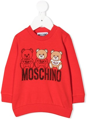 MOSCHINO BAMBINO Teddy Bear logo sweatshirt