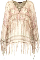 Kate Moss for topshop **tassel print blouse