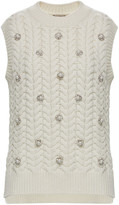Moncler Genius Embellished Cable-Knit Wool And Cashmere-Blend Sweater