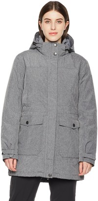 Outdoor Ventures Womens Kailua Waterproof Winter Raincoat Dark Grey Marl X-Small