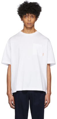 Acne Studios White Pocket Boxy Fit T-Shirt