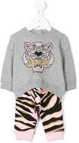 Kenzo metallic stripes sweatshirt & sweatpants - kids - Cotton - 6 mth