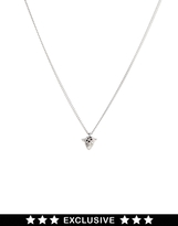 Asos Bill Skinner Exclusive For Rhinestone Panther Pendant - Silver