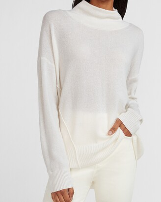 Express X You Cashmere Mock Neck Sweater