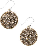 Lucky Brand Earrings, Gold-Tone Pave Disk Earrings