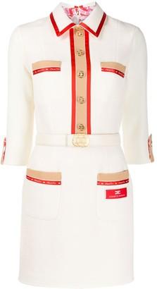Elisabetta Franchi Logo Trim Shirt Dress