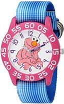 EWatchFactory Girl's 'Sesame Street' Quartz Plastic and Nylon Automatic Watch, Color:Blue (Model: W003208)