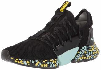Puma Women's Hybrid Rocket Runner Sneaker Black-Iron gate White 8.5 M US
