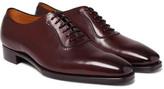 Gaziano & Girling - Westbury Burnished-leather Oxford Shoes - Burgundy