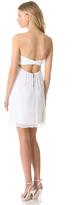Alice + Olivia Center Drape Strapless Dress