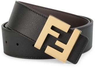 Fendi FF Logo Leather Belt