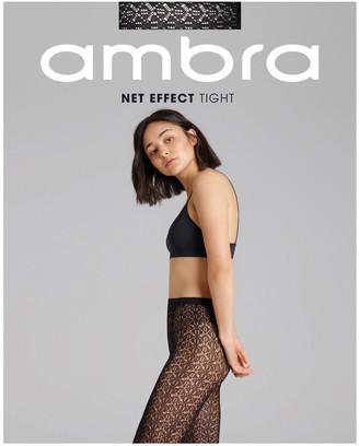 Ambra Net Effect Tight Black Sml-Ave
