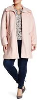 Jessica Simpson Zip Front Coat (Plus Size)