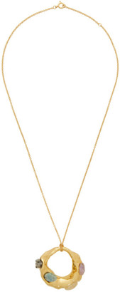 Marni Gold Molten Stone Necklace