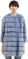 Simonetta Ravizza Mink Fur Coat W/ Detachable Panels