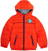 Sorry 4 the Mess Channel-Quilted Tech-Fabric Hooded Coat-ORANGE