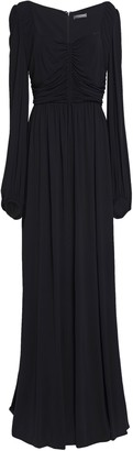 Alexander McQueen Ruched Gathered Crepe-jersey Gown
